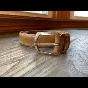 Mezlan tan leather belt | size Medium